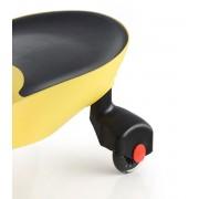 Машинка детская с полиуретановыми колесами  желтая «БИБИКАР»