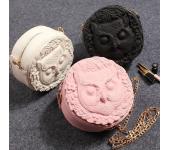 Уникальная сумка Сова (Белая, черная, розовая)