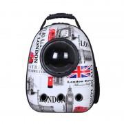 Рюкзак-переноска для животных с вентиляцией и окошком  London (Бело-красный)