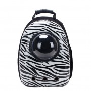 Рюкзак-переноска для животных с вентиляцией и окошком (Бело-черный)