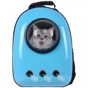 Рюкзак-переноска для животных с вентиляцией и окошком (Голубой)