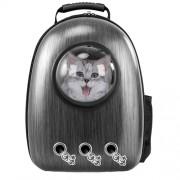 Рюкзак-переноска для животных с вентиляцией и окошком (Темно-серый)