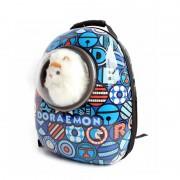 Рюкзак-переноска для животных с вентиляцией и окошком (Синий с рисунком)