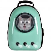 Рюкзак-переноска для животных с вентиляцией и окошком (Зеленый)