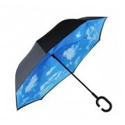 Антизонт Smart зонт наоборот Летнее небо (Голубо-белый)