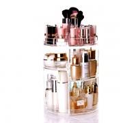 Акриловый вращающийся органайзер для косметики Cosmetic Storage Box 360 Rotation JN-820 (Прозрачный)