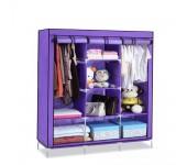Складной каркасный тканевый шкаф Storage Wardrobe 88130 (Фиолетовый)