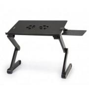 Столик-трансформер для ноутбука Laptop table T8 (Черный)