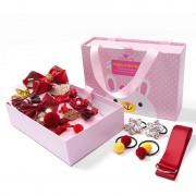 Детский подарочный набор заколок Happy every day (Красный)
