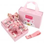 Детский подарочный набор заколок Happy every day (Темно-розовый)