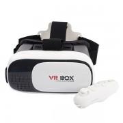 Очки виртуальной реальности VR-Box 2.0 с пультом (Бело-черный)