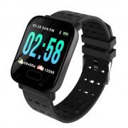 Умные часы с измерителем давления A6 Smart Bracelet Sistained Heart Rate (Черный)