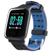 Умные часы с измерителем давления A6 Smart Bracelet Sistained Heart Rate (Синий)