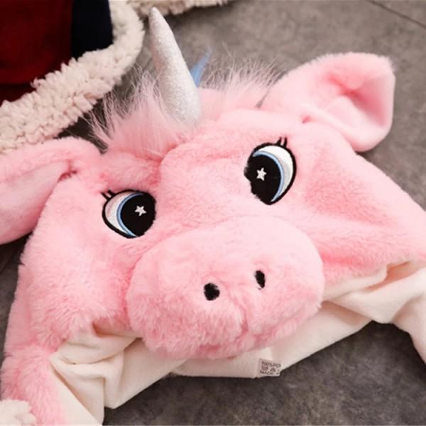 Шапка Единорог Движущиеся уши (Розовая)