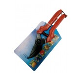Секатор Горизонт С-41-4 традиционный оксид 220 мм (Красный)