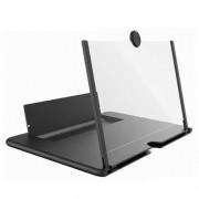 Увеличитель экрана 5D Mobile Phone Video Amplifier Enlarged Screen Magnifier для телефона 12 дюймов (Черный)