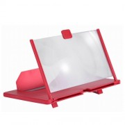 Увеличитель экрана 5D Mobile Phone Video Amplifier Enlarged Screen Magnifier для телефона 12 дюймов (Красный)