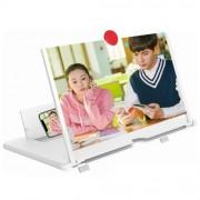 Увеличитель экрана 5D Mobile Phone Video Amplifier Enlarged Screen Magnifier для телефона 12 дюймов (Белый)