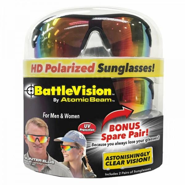 Солнцезащитные очки Battle Vision HD Polarized Sunglasses by Atomic Beam (Черный)