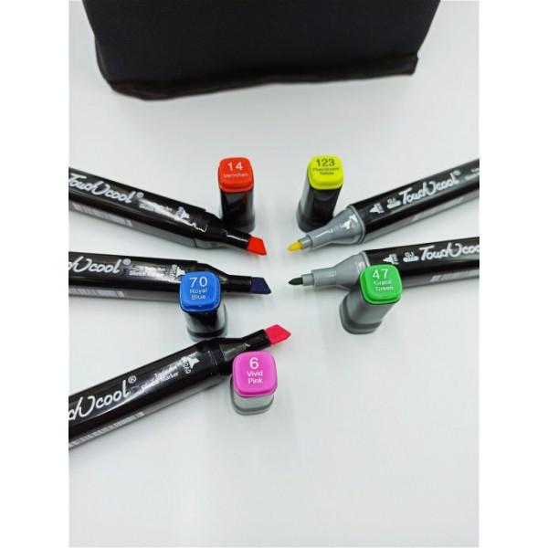 Набор маркеров Touch cool 60 цветов (Черный)