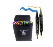 Набор маркеров Touch cool 40 цветов (Черный)
