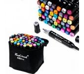 Набор маркеров Touch cool 48 цветов (Черный)