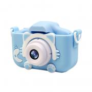 Детский фотоаппарат Childrens Fun Camera Kitty (Голубой)