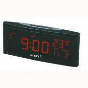 Электронные часы VST-719W-1 (Черный-красный)