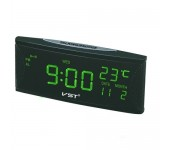 Электронные часы VST-719W-4 (Черный-ярко-зеленый)