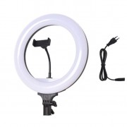 Светодиодная кольцевая лампа Nonpolar Dimming LED 32 см (Бело-черный)
