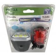 Велосипедный фонарь YYC-CD-0598-3 (Черный-красный)