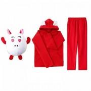 Детский костюм-трансформер Свинка 021-4, размер 134 (Красный)