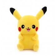 Мягкая игрушка в стиле покемона Пикачу с улыбкой 55 см (Желтая)