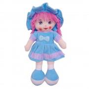 Кукла в платье с рюшками и шляпе 45 см (Голубой)
