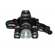 Налобный фонарь High Power Headlamp 3 X CREE T6 (Черный)
