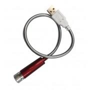Ночной USB проектор Light for Automotive Household Decoration (Красно-серебристый)
