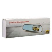 Зеркало видеорегистратор Vehicle Blackbox DVR с камерой заднего вида (Черный)