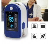 Пульсоксиметр Fingertip Pulse Oximeter AB-88 на палец (Бело-синий)
