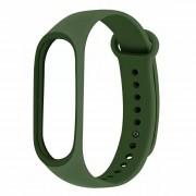 Сменный браслет Xiaomi Mi Band 5 однотонный (Темно-зеленый)