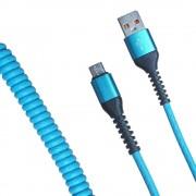 Кабель R22 USB-А to microUSB 1м (Голубой)