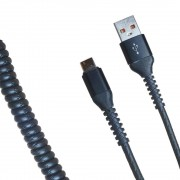 Кабель R22 USB-А to Type-C 1м (Черный)