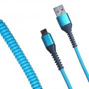 Кабель R22 USB-А to Type-C 1м (Голубой)