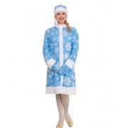 Карнавальный костюм Снегурочка размер 42 (Голубой)