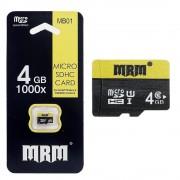Карта памяти microSD MRM MB01 4G Class10 (Черный)