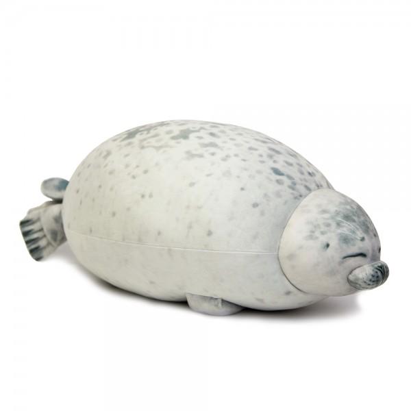 Мягкая игрушка-подушка Тюлень пятнистый 100 см (Серый)
