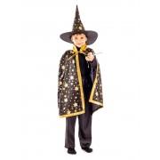 Карнавальный костюм Маг Звездочет размер 28 (Золотисто-черный)