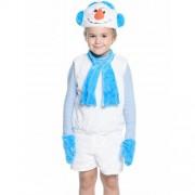 Карнавальный костюм Снеговик размер 28 (Белый)