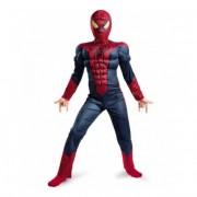 Карнавальный костюм супергероя с мускулами Человек паук K-148, размер S (Красно-синий)