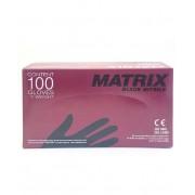 Перчатки нитриловые неопудренные Matrix размер L 100 (Черный)