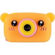 Детский цифровой фотоаппарат Zoo Kids мишка (ораньжевый)